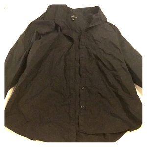 Worthington black button up shirt